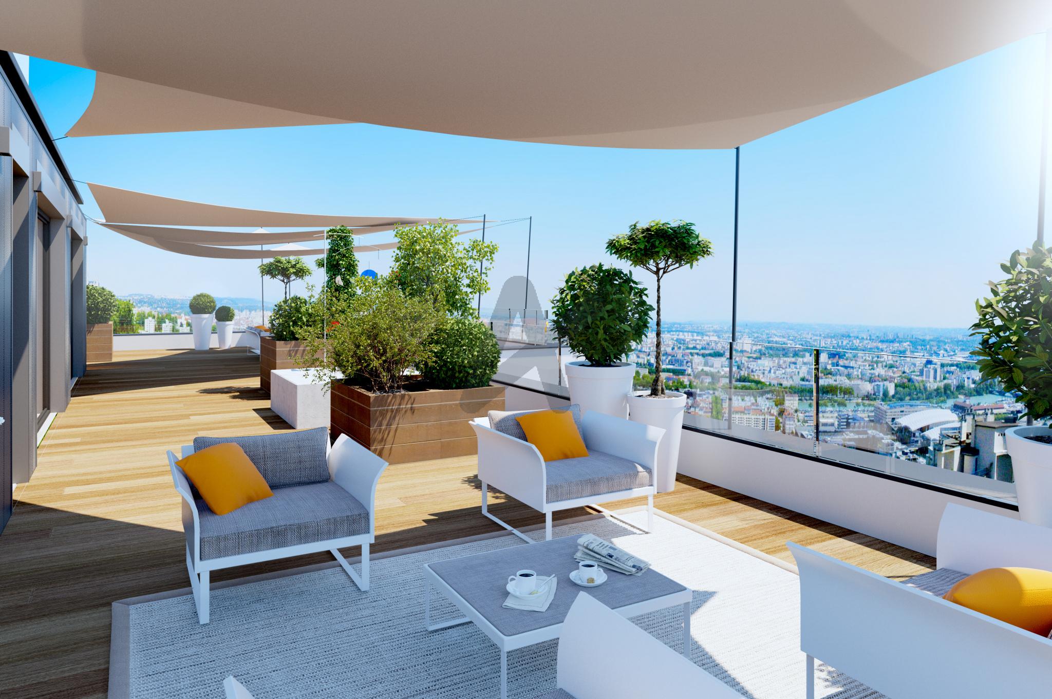 Vente Lyon 5ème Magnifique Duplex En Toit Terrasse De 173 M